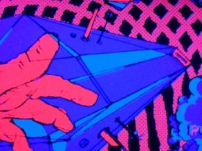 Cybro-Mitt (UV detail)